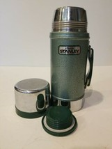 Aladdin Stanley A-1350B 24Oz Wide Mouth Thermos VINTAGE Green Vacuum Bottle used - $38.65