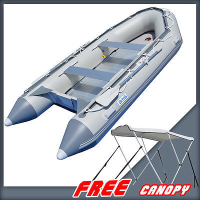 BRIS 1.2mm PVC 14.1ft Inflatable Boat Rescue Raft Power Boat With Free Bimini