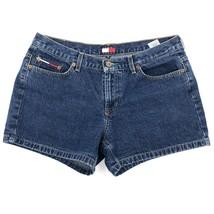 Tommy Hilfiger Jean Shorts Womens Size 11 Dark Blue Denim Classic Logo - $27.72