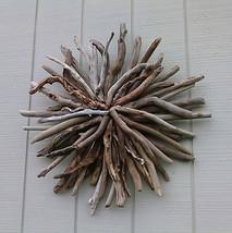 Driftwood Round Wall Hanging Sunburst Coastal B... - $129.00