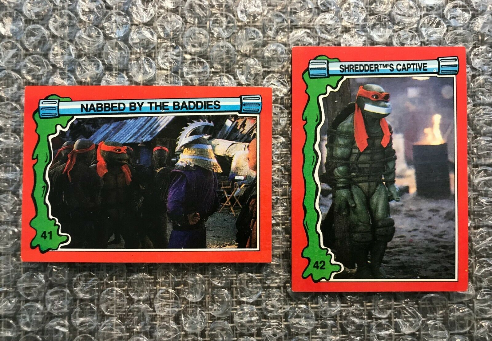 Primary image for 1991 Topps Teenage Mutant Ninja Turtles TMNT II Movie Cards Lot: #41 & #42