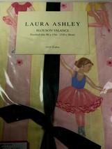 "Laura Ashley Ballerina Window Valance 86"" X 15""  Pink & Yellow Striped B... - $17.81"