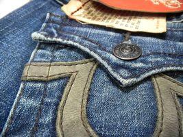 True Religion Women's Denim Jeans Joey Leather Pocket 83 - Med Savana 10503VNL image 6