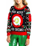 Women's Drinking Game Ugly Christmas Sweater - Funny Large - $88.81