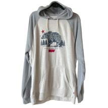Levi's Hoody Pullover Sweatshirt Logo California Bear Gray Men's Size XXL - $32.45