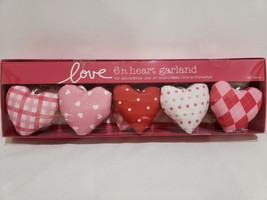 Valentines Day Conversation Heart Garland Love Pink Red Decoration 6FT - $28.99