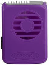 O2COOL Deluxe Necklace Fan with Breakaway Lanyard Battery Operated Purple  image 1