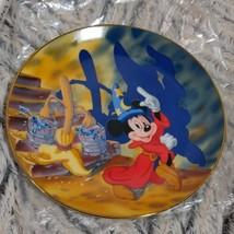 Fantasia Mickey Mouse 50 Year Anniversary Plate Walt Disney 1940-1990 Sm... - $11.09