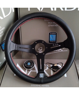 Universal 14 inch ND leather Auto Racing Steering wheels Deep Corn Drift... - $72.90+