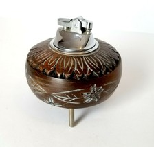 Vintage Music Box Wood Table Lighter Collectible - Japan - $83.84