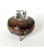 Vintage Music Box Wood Table Lighter Collectible - Japan - £59.26 GBP