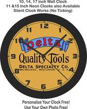 Delta Quality Tools Logo Wall Clock-Free US Ship - $27.71+