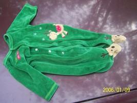Carter's Just One Year Santa's little helper green suit 3M - $1.50