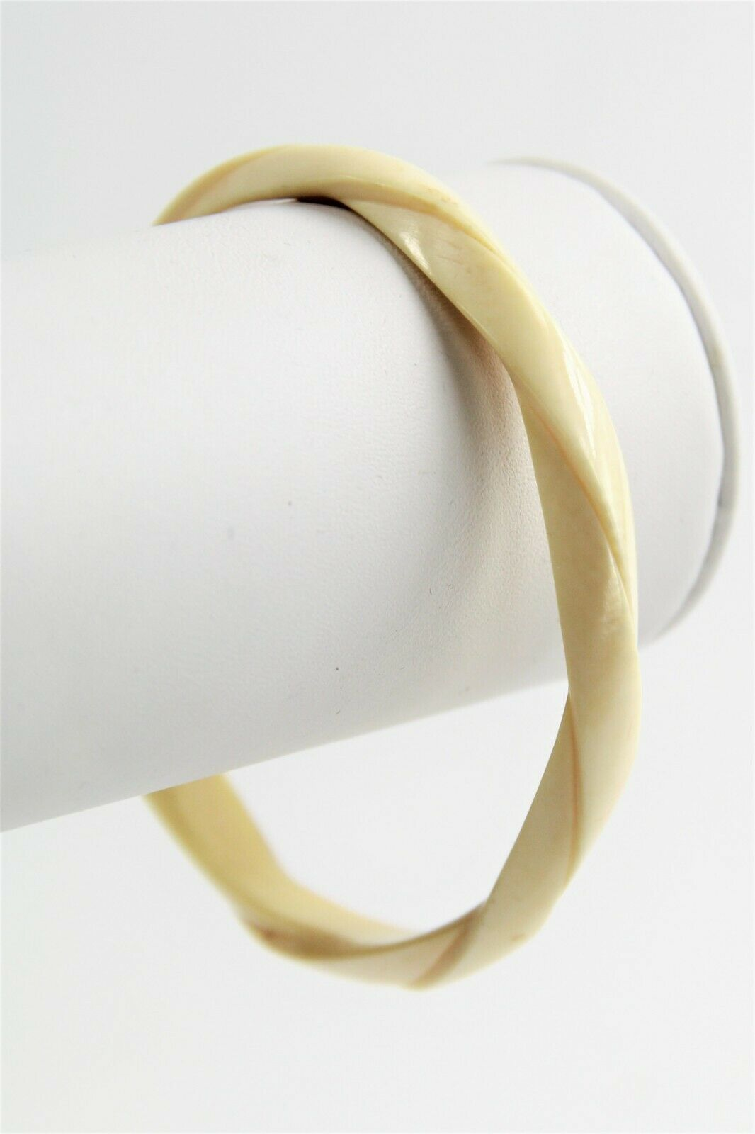 "6.5"" ANTIQUE ESTATE Jewelry BOHO TRIBAL HAND CARVED TWIST BANGLE BRACELET"