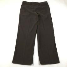 Armani Collezioni Chino Khakis Mens 50 34x28 Brown Straight Wide Leg Polyester - $26.18