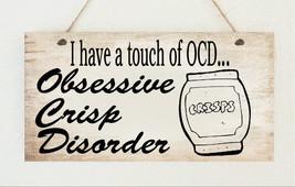 Crisp Lover OCD Crisps Food Obsessed Funny Plaque Gift Present Family Fr... - $6.80