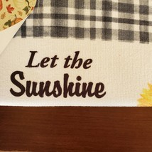 Kitchen Drying Mat, Sunflower Design, Let the Sunshine on Your Soul, Yellow image 3