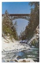 Quechee Gorge Bridge VT Windsosr County Robert Holland Photo Vntg Postcard - $4.99