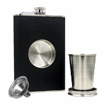 Hip Flask Stainless Steel Liquor Pocket Shot Flask with Glass and Whiske... - €12,23 EUR