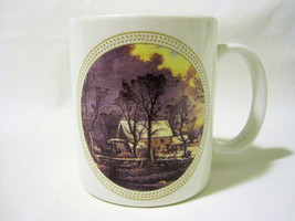 Houston Harvest Coffee Mug Cup Scenic Old Mill With Horses By Creek In W... - $5.00