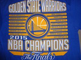 NWT Blue Golden State Warriors 2015 NBA Finals Champions Basketball T Shirt M image 3