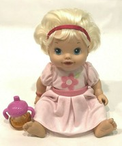 2010 Hasbro Baby Alive Wet Wiggle Talking Blonde Hair Interactive Doll S... - $24.74