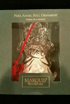Waterford Crystal Marquis Noel Angel Bell Christmas Ornament Third in a Series - $35.99