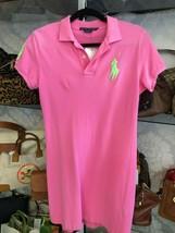 RALPH LAUREN Blue Label Pink Polo 100% Cotton Dress Sz M $$ - $63.26