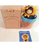 ANNE GEDDES BABY SUNFLOWER IN POT PLANTER NEW - $15.99