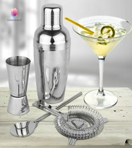 Cocktail Shaker Set Martini Drink Stainless Ste... - $17.33