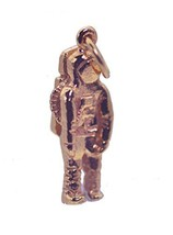 18K Rose Gold Plated Astronaut Pendant Charm Silver Space Crew spaceflight New - $21.53