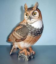 """Goebel Gunther Granget Great Horned Owl 10""""H Porcelain #28/1000 Signed $... - $375.90"""