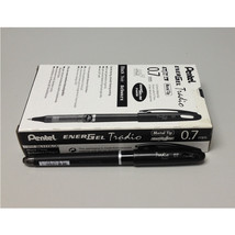 Pentel EnerGel Tradio 0.7mm Rollerball Pen (12pcs), Black / Black Ink, B... - $35.99