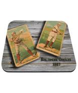 1887 baltimore orioles mlb baseball burns kilroy mouse pad usa made - $18.99