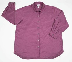 CHICO'S DESIGN WOMENS REGULAR SIZE 16 18  PINK SHIRT TOP BLOUSE CHICOS S... - $19.79