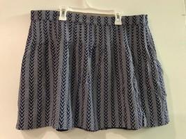 GAP Women's Skirt Navy Blue White Chevron Lined Side Zip Size 14 - $14.95