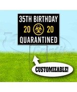 HAPPY BIRTHDAY QUARANTINED 18x24 Yard Sign WITH STAKE Corrugated Bandit ... - $17.09+