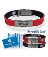 Sport/Slim Reversible Waterproof Medical Alert Bracelet. Incl. 9 lines e... - $34.38