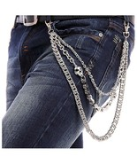 BeOne Men Cool Hip Hop Punk Pants Trousers Wallet Key Chain Motorcyle Jean Rock - £22.02 GBP