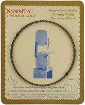"SuperCut B107G14H6 Carbide Impregnated Bandsaw Blade, 107"" Long - 1/4"" Width; 6  - $31.21"