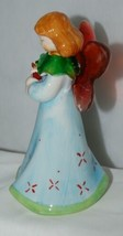 Dicksons Christmas Angel Blue Dress Holding Candle 6 Inches image 2