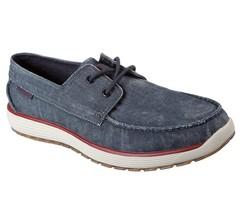 65265 Azul Marino Skechers Zapatos Hombre Espuma Viscoelástica Barco de ... - $39.61