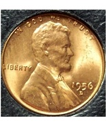 1956-D Lincoln Wheat Back Penny MS65R #908 - $0.89