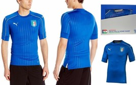 Men's Puma FIGC Italy Italia Home Authentic Soccer Jersey 748828-01 Blue Size M  - $79.95