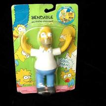 The Simpsons  Bendable Figure Bendy New Jesco 1990 Homer Simpson - $16.99