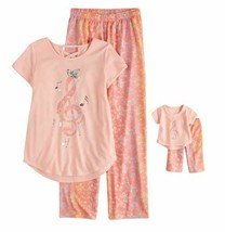 American Girl 5-10 and Doll Matching Music Note Nightgown Clothes fit Dollie Me
