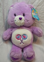 "Care Bears PURPLE SHARE BEAR 13"" Plush STUFFED ANIMAL Toy NEW - $19.80"