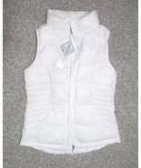 NWT 32 Degrees Heat Women's Small Down Vest White ULTRA LIGHT Packable Top $60