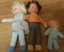 LOT OF 3 1978 VINTAGE FISHER PRICE CLOTH DOLLS - $37.05