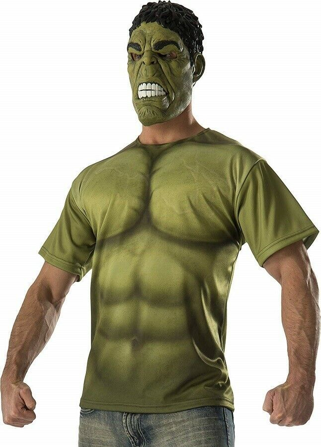 Primary image for Medium - Men's Hulk Adult Costume Mask and T-Shirt